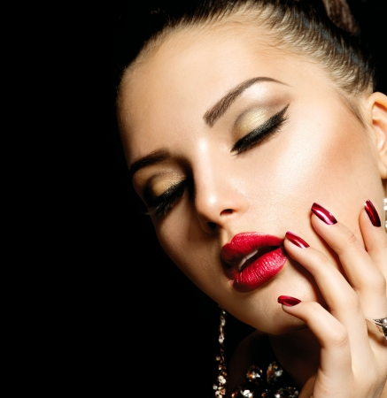 Fashion Beauty  Manicure and Make-up