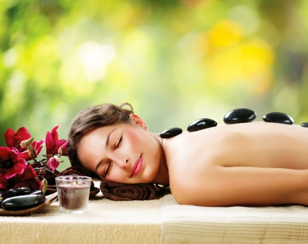 Photo for Spa Salon  Stone Massage  Dayspa  - Royalty Free Image