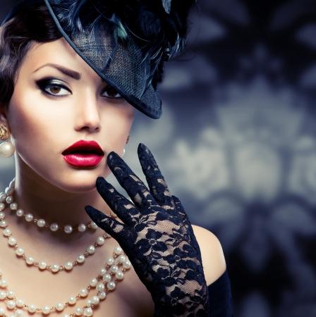 Foto de Romantic Beauty  Retro Style  - Imagen libre de derechos