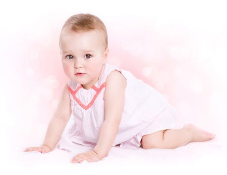 Photo pour Baby  Cute Baby Girl Portrait  - image libre de droit