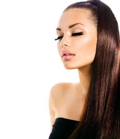 Photo pour Beauty Fashion Model Girl with Long Healthy Hair  - image libre de droit