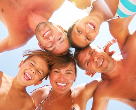 Photo for Happy Laughing Big Family Having Fun at the Beach  - Royalty Free Image