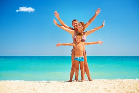 Photo for Happy Family Having Fun at the Beach  Vacation  - Royalty Free Image