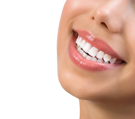 Photo pour Healthy Smile  Teeth Whitening  Dental care Concept  - image libre de droit