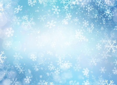 Foto de Winter Holiday Snow Background  Christmas Abstract Backdrop  - Imagen libre de derechos
