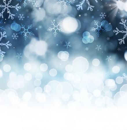 Foto de Winter Holiday Snow Background  Christmas Abstract Backdrop  - Imagen libre de derechos
