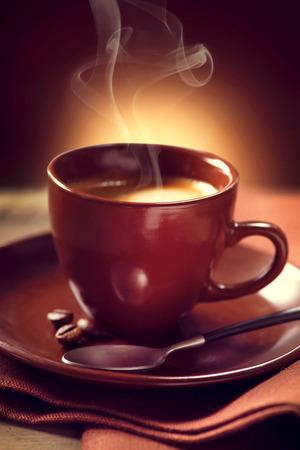 Photo pour Coffee  Cup of Coffee closeup  Espresso - image libre de droit