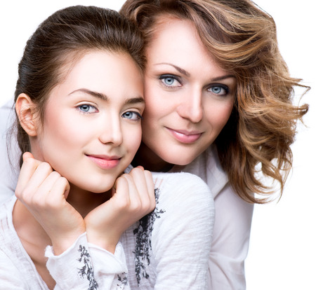 Photo for Attractive happy mother and smiling teenage daughter - Royalty Free Image