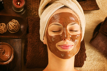 Photo for Chocolate Luxury Spa  Facial Mask  Day Spa Treatment - Royalty Free Image