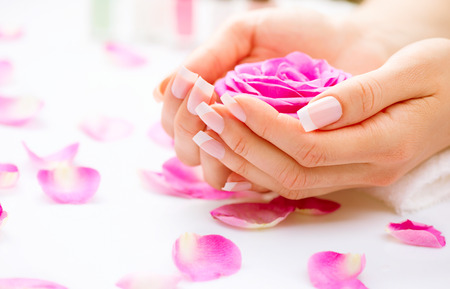 Foto de Manicure and hands spa  Beautiful woman hands closeup - Imagen libre de derechos