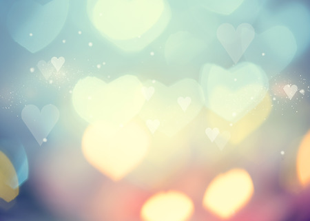 Photo for Valentine Hearts Abstract Background. St.Valentines Day - Royalty Free Image