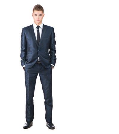Photo for Full length portrait on young handsome man. Elegant man - Royalty Free Image
