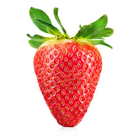 Foto de Fresh ripe strawberry isolated on a white background - Imagen libre de derechos