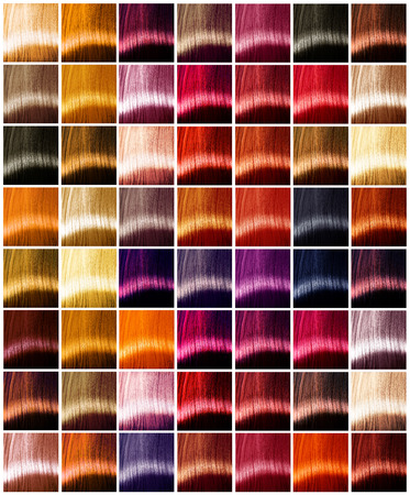 Foto de Hair colors palette. Tints. Dyed hair color sample - Imagen libre de derechos