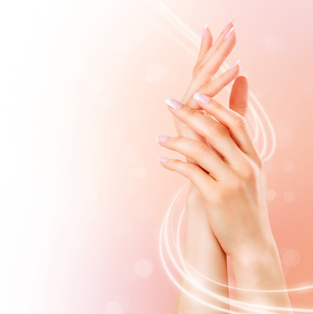Photo pour Beautiful female hands. Spa and manicure concept - image libre de droit
