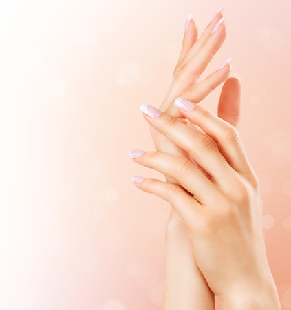 Foto für Beautiful female hands. Spa and manicure concept - Lizenzfreies Bild