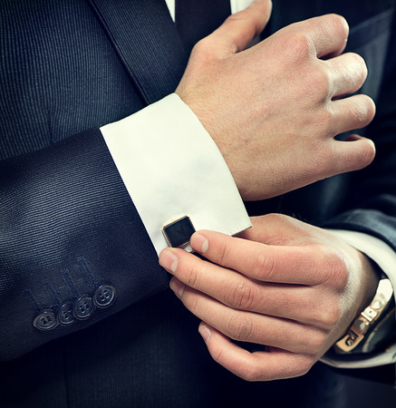 Photo for Elegant young businessman wearing suit - Royalty Free Image