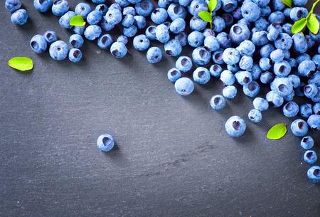 Photo for Blueberry border design. Blueberries background - Royalty Free Image