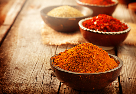 Photo for Spice. Various spices over wooden background - Royalty Free Image