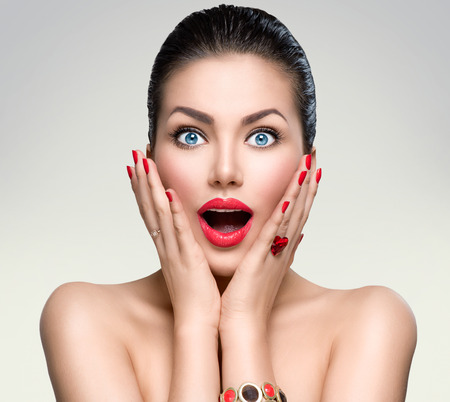 Foto für Beauty fashion surprised woman portrait - Lizenzfreies Bild