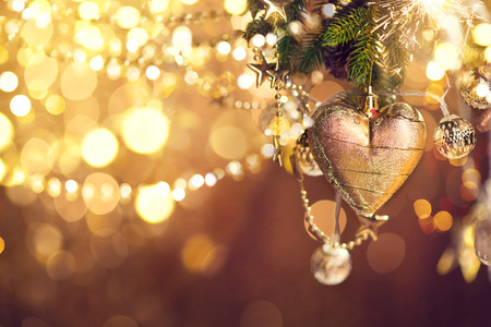 Photo pour Christmas and New Year decoration. Abstract blurred bokeh holiday background - image libre de droit