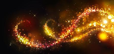 Foto de Golden Christmas and New Year background - Imagen libre de derechos