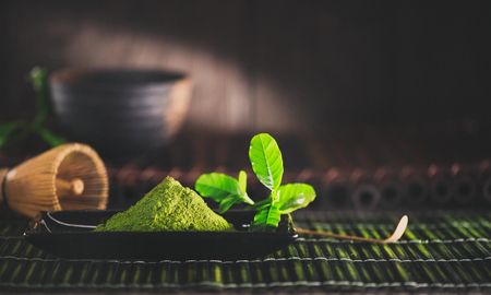 Photo for Matcha powder. Organic green matcha tea - Royalty Free Image
