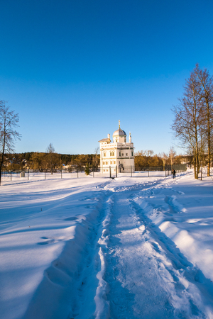 Foto de The Hermitage of the 17th century, built for Patriarch Nikon next to the New Jerusalem Monastery. Istra, Moscow suburbs, Russia. - Imagen libre de derechos
