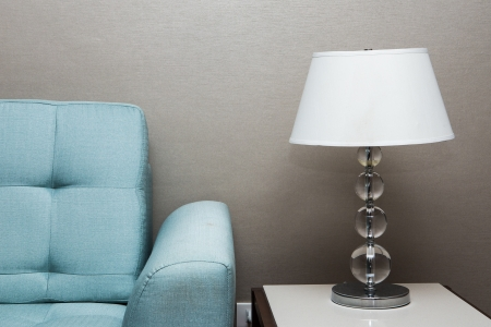 Photo for table lamp and sofa - Royalty Free Image