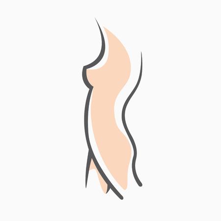 Ilustración de Sexy fitness figure of a girl. Intimate hygiene, vector lady poses. Lovely elastic ass bikini zone. Drawn graphics for design, background - Imagen libre de derechos