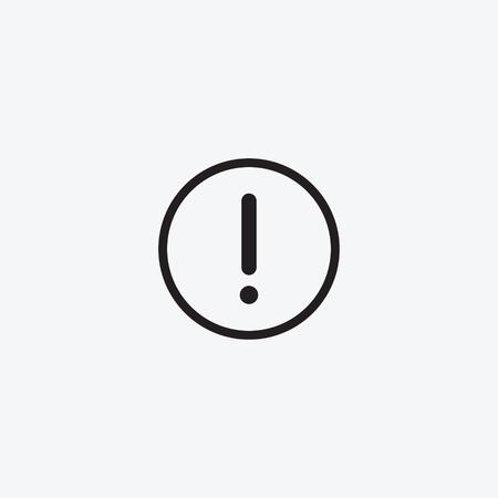 Ilustración de Icon graphic drawing carefully danger, Warning, exclamation mark. Black and white pictogram for web design. Vector flat illustrations, logo - Imagen libre de derechos