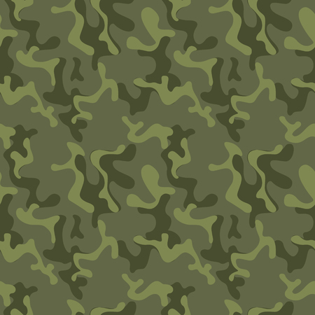 Ilustración de Seamless military camouflage texture. Army green hunting, camouflage background for textiles and design. Vector graphic illustration. Fashionable style - Imagen libre de derechos