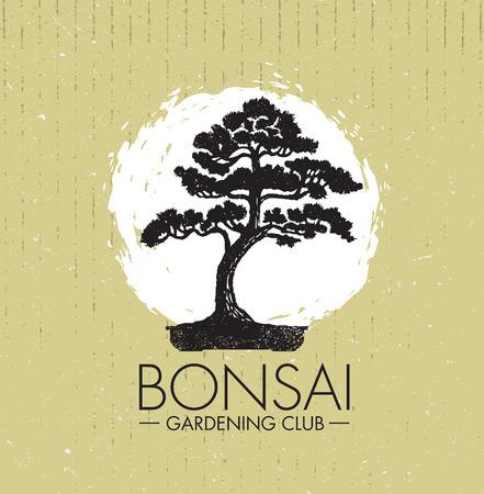 Illustration pour Bonsai Gardening club creative design concept. - image libre de droit