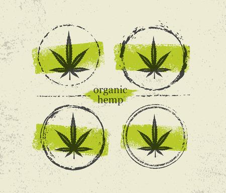 Ilustración de Organic Hemp Farm Raw Protein Supplement Health Care Vector Design Element. Medicine Cannabis Oil Nutrition Sign - Imagen libre de derechos