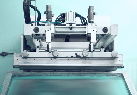 Photo pour Retro printing press in the silkscreen technique - image libre de droit