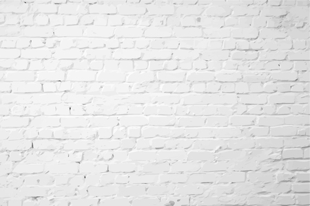 Illustration pour White plastered textured brick wall - image libre de droit