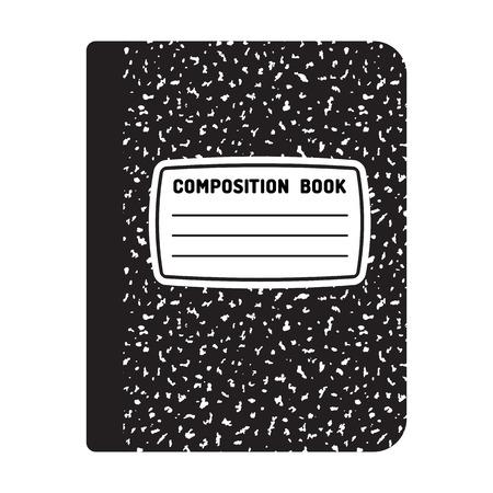 Illustration pour Composition book template. Traditional school notebook illustration. - image libre de droit