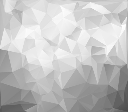 Ilustración de Gray White Light Polygonal Mosaic Background, Vector illustration,  Creative  Business Design Templates - Imagen libre de derechos