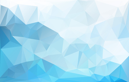 Ilustración de Blue White  Polygonal Mosaic Background, Vector illustration,  Creative  Business Design Templates - Imagen libre de derechos