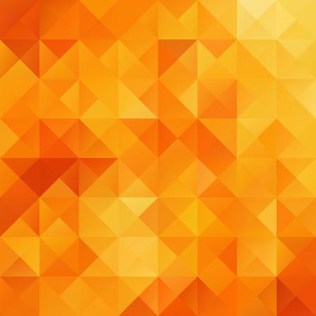 Illustration pour Orange Grid Mosaic Background, Creative Design Templates - image libre de droit