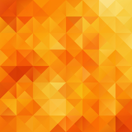 Illustration for Orange Grid Mosaic Background, Creative Design Templates - Royalty Free Image