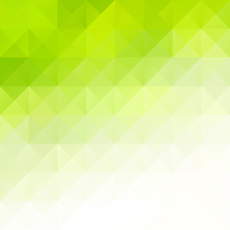 Illustration for Green Grid Mosaic Background, Creative Design Templates - Royalty Free Image