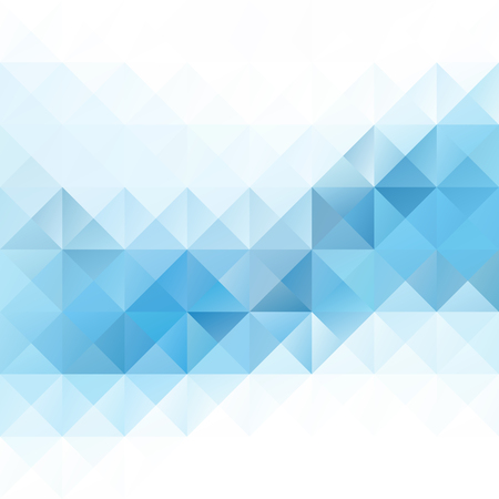 Illustration pour Blue Grid Mosaic Background, Creative Design Templates - image libre de droit