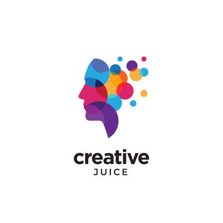 Illustrazione per Digital Abstract human head logo for creative - Immagini Royalty Free