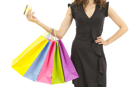 Photo for Shopping with credit card - Royalty Free Image