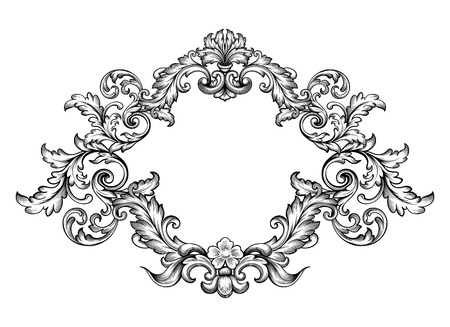 Illustration for Vintage Baroque Victorian frame - Royalty Free Image