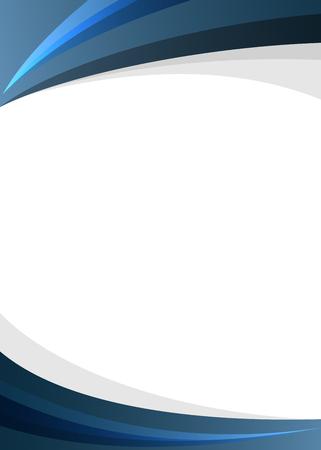 Illustration pour Blue corporate style border on white background Vector illustration. - image libre de droit