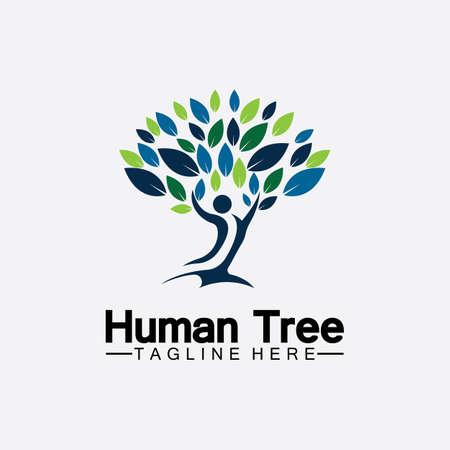 People Tree Vector Logo Template illustration design