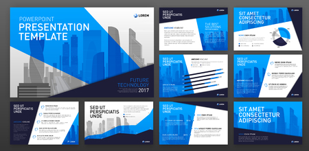 Ilustración de Business presentation templates. Use for ppt layout, presentation background, brochure design, website slider, corporate report. - Imagen libre de derechos