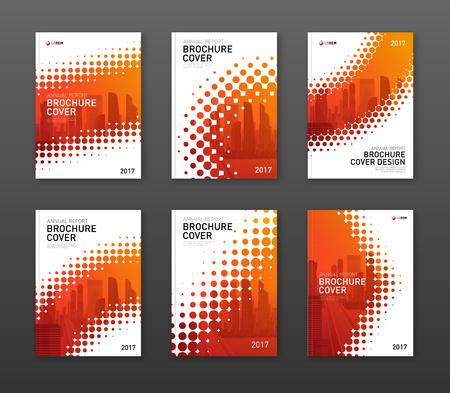 Ilustración de Brochure cover design template for business or investment company. - Imagen libre de derechos